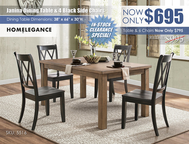 Janina Dining Table & 4 Black Chairs_5516