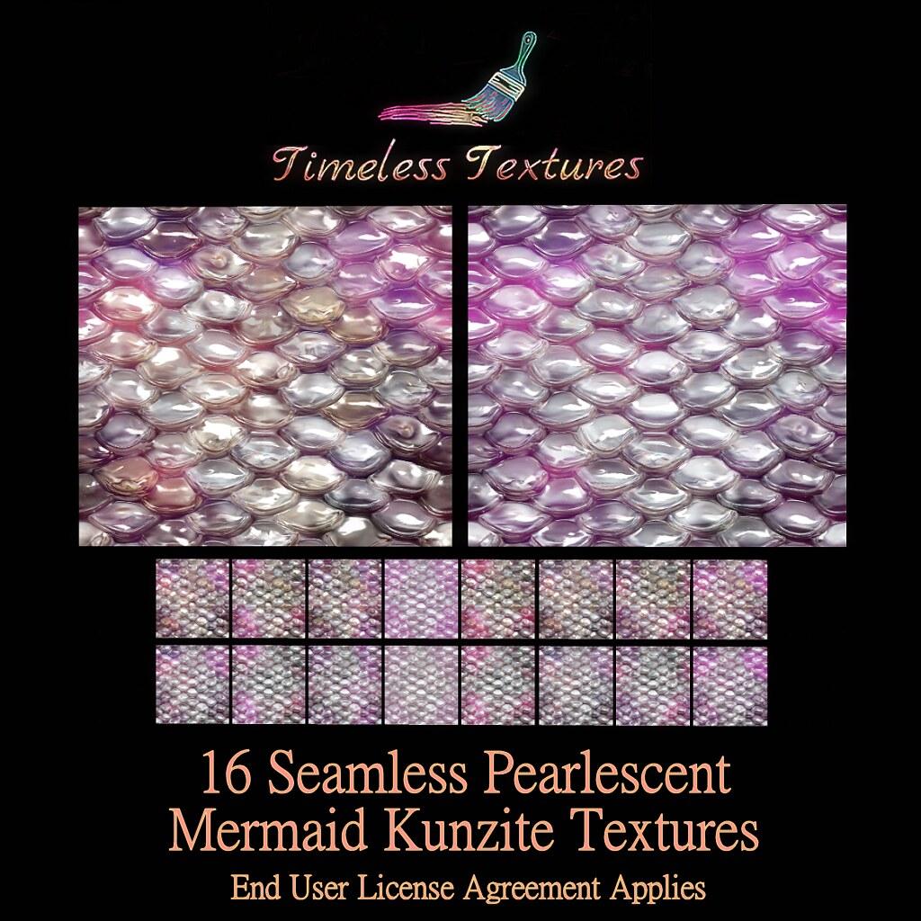 TT 16 Seamless Pearlescent Mermaid Kunzite Timeless Textures