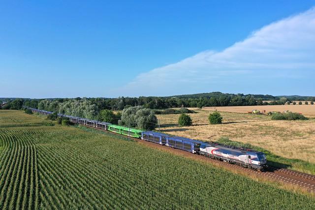ZSSK Cargo 383 + Güterzug/goederentrein/freight train  - Bornim Grube