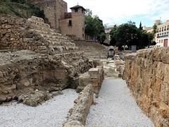 Málaga - Teatro romano, entrada Alcazaba
