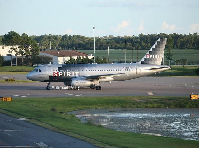 Spirit Airlines                                         Airbus A319                                               N524NK
