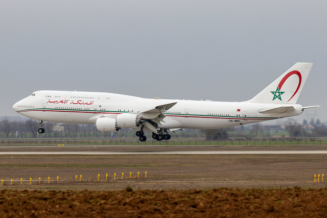 CN-MBH - Boeing 747-8Z5(BBJ)_Government of Morocco - LFLL_Lyon St Exupery 2nd March 2019.
