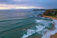 South Coast Sunrise Seascape and light high cloud
