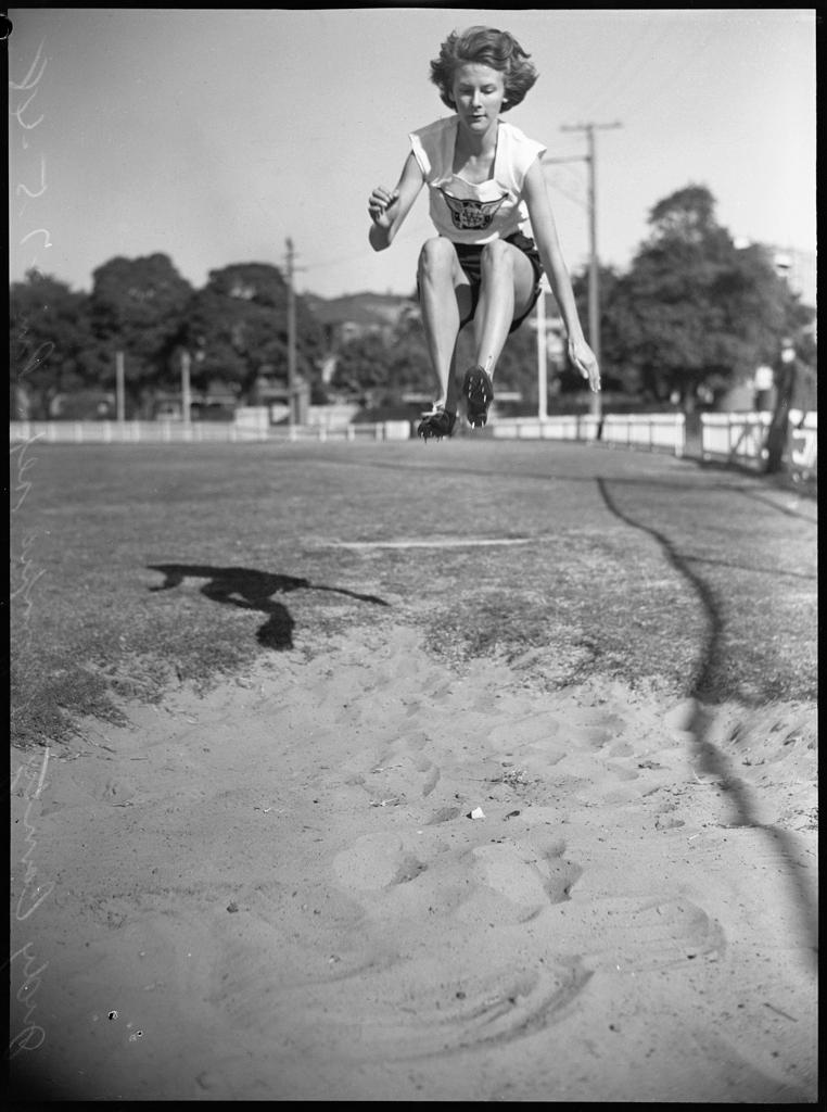 Judy Canty, schoolgirl Olympic representative, 27 May 1948