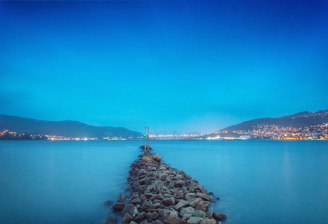 Hora azul, Ría de Vigo