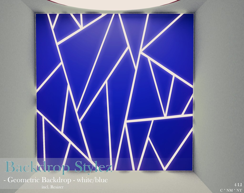 Backdrop Stylez – Geometric Backdrop – white/blue