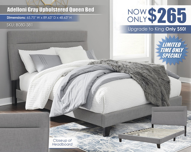 Adelloni Gray Upholstered Bed_B080-381_July2021