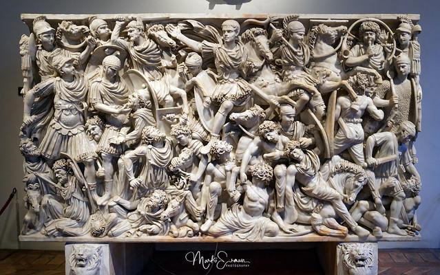 Ludovisi Battle Sarcophagus, Palazzo Altemps