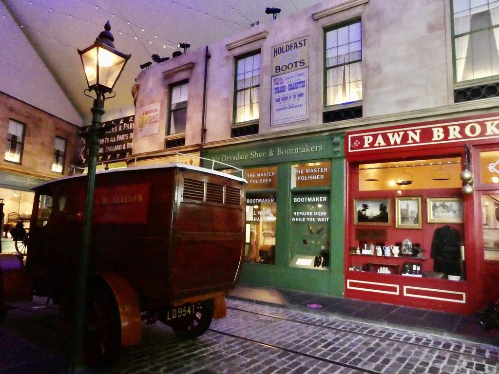 Street scene at the Riverside Museum, Glasgow