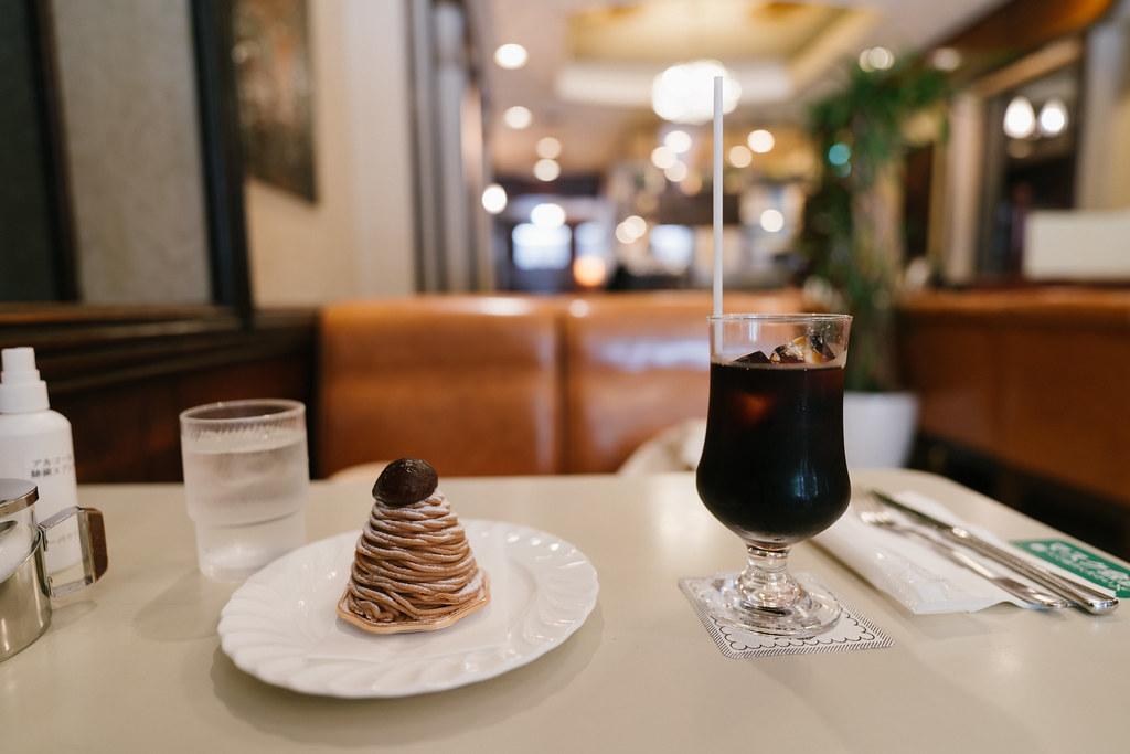 モンブランとアイスコーヒー 2021/07/29 DSC00209