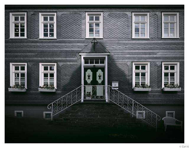 Historic slate house.