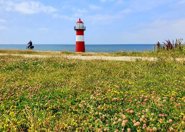 Lighthouse Noorderhoofd in Westkapelle, Zeeland, Netherlands