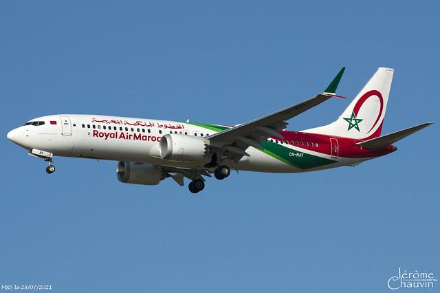 B 737-MAX8 ROYAL AIR MAROC CN-MAY MRS le 28/07/2021