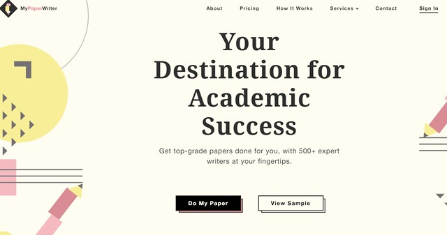 mypaperwriter main page
