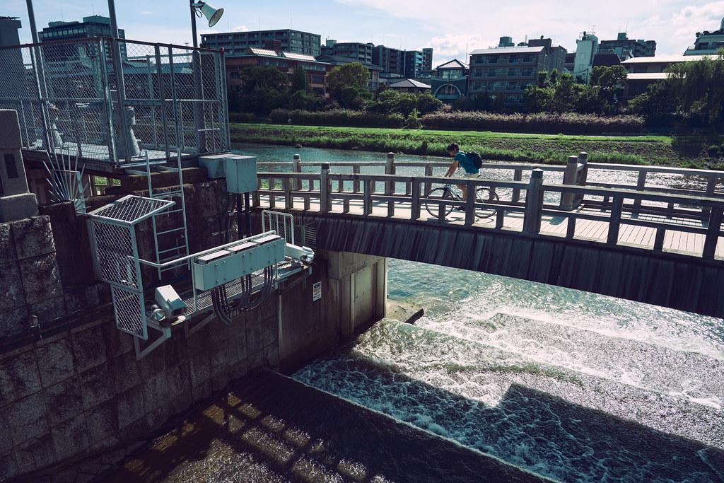 Kyoto Kamo River in Summer