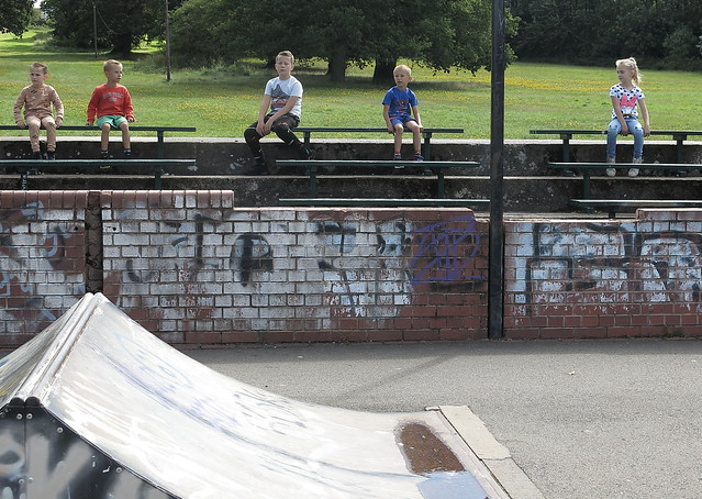 At the skateboarding park