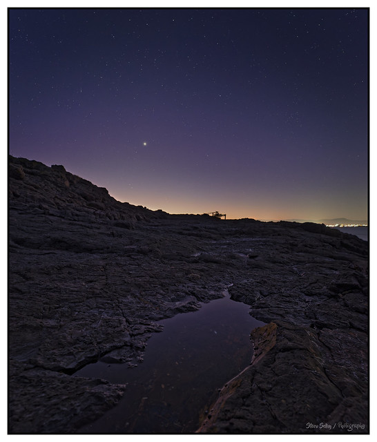 Venus and a Shooting star..