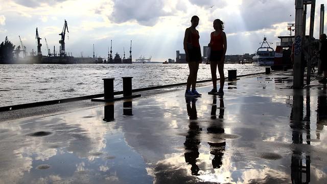 After the rain - Hamburg Landungsbrücken