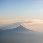 Popocatépetl Volcano at 5400m - seen flying in to Mexico City from Guatemala - Mexico 2020