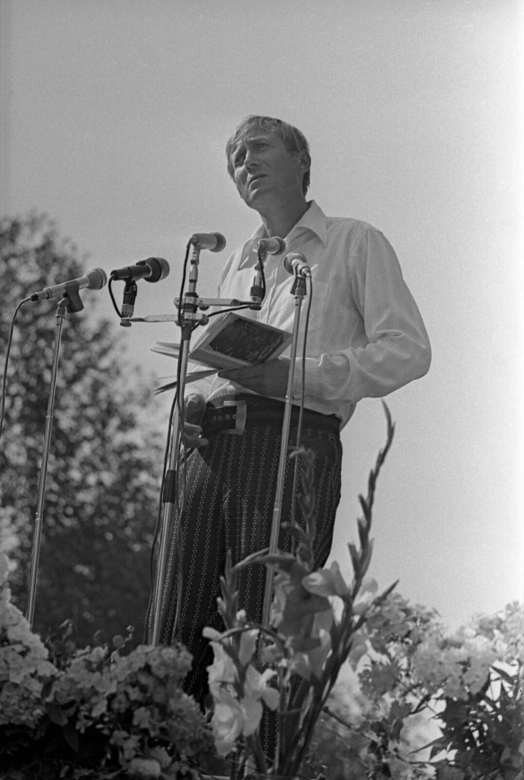 1974. Блоковский праздник в Шахматове, Поэт Евгений Евтушенко.