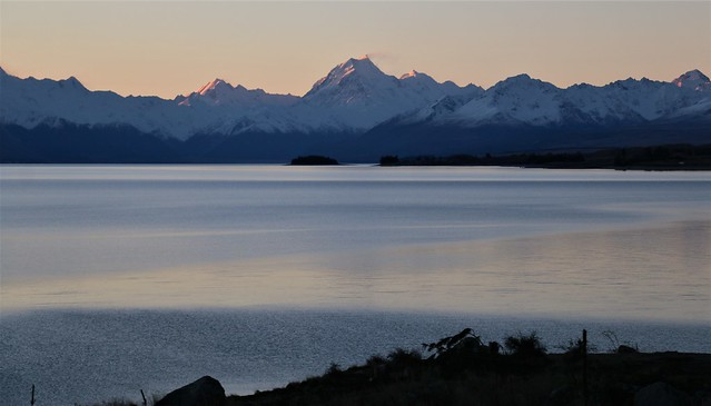 Sunset on the Southern Alps