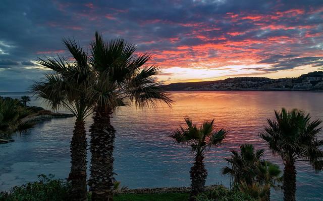 Morgendämmerung [Mellieha Bay Hotel - Malta]