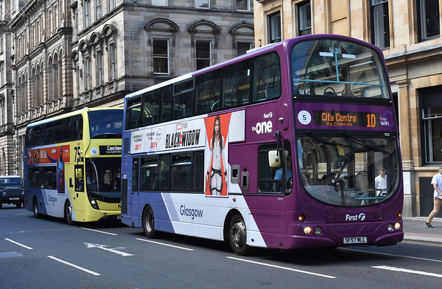 First Glasgow Volvo B9TL 37223 Route 1D