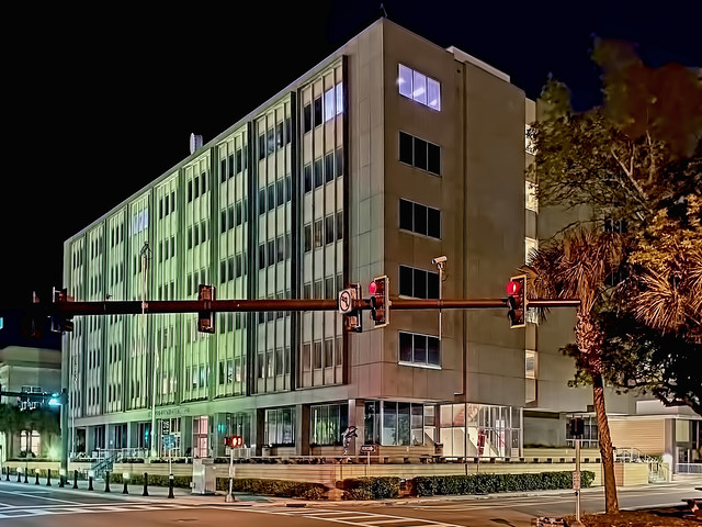 Pinellas County Clerk of the Circuit Court Clearwater Courthouse, 315 Court Street, Clearwater, Florida, USA / Built: 1963 / Floors: 6 + Basement / Exterior Wall: Concrete Block/Stucco / Interior Finish: Dry Wall / Roof Frame: Reinforced Concrete