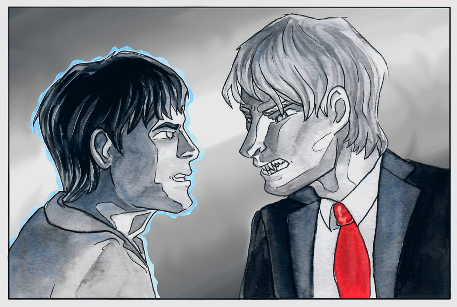 Arthur and Merlin's stand-off
