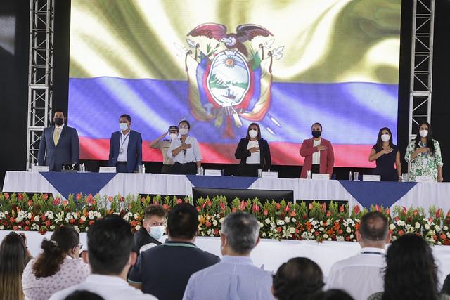 PRESIDENTA DE LA ASAMBLEA NACIONAL GUADALUPE LLORI, PARTICIPÓ EN LA PRESENTACIÓN DE LA AGENDA PARLAMENTARIA MINGA POR EL ECUADOR, ORELLANA, 29 DE JULIO DEL  2021