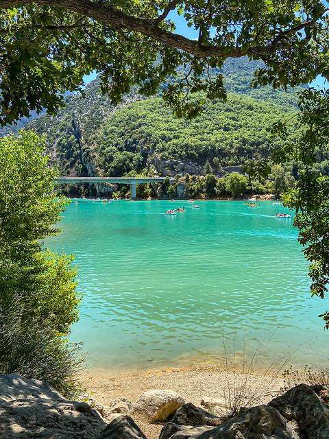 Lac de Sainte-Croix au cœur de la Provence