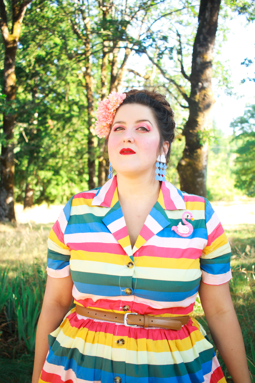 Joanie Clothing Rainbow Dress