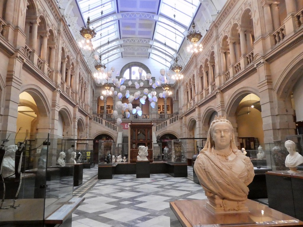 A bust of Queen Victoria in the Kelvingrove Art Gallery and Museum, Glasgow