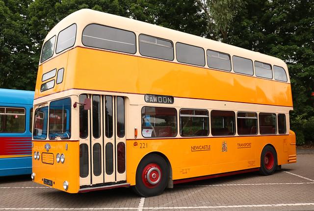 Newcastle Transport: 221 221JVK Leyland Atlantean/Alexander