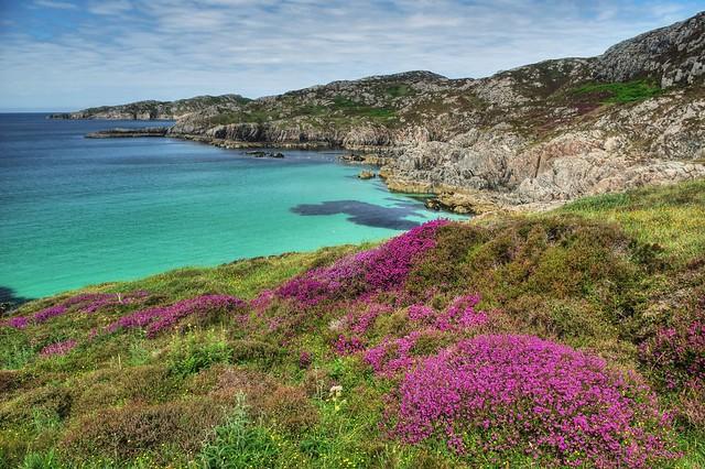 Achmelvich Bay, Achmelvich, Lochinver, Assynt, NC500, Scotland, UK