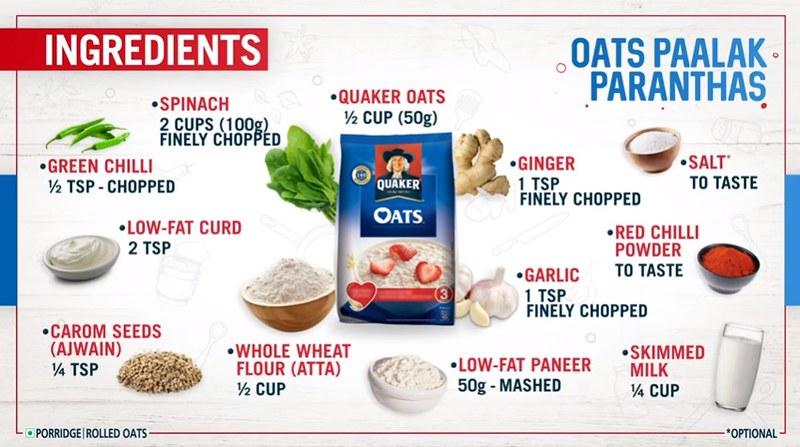 Tasty Oats Healthy Parathas Recipe   Quaker Oats