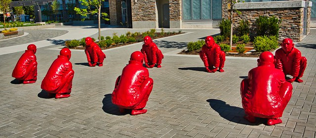 2021 - Vancouver - White Rock - The Meeting – by Chinese artist Wang Shugang - 2 of 2
