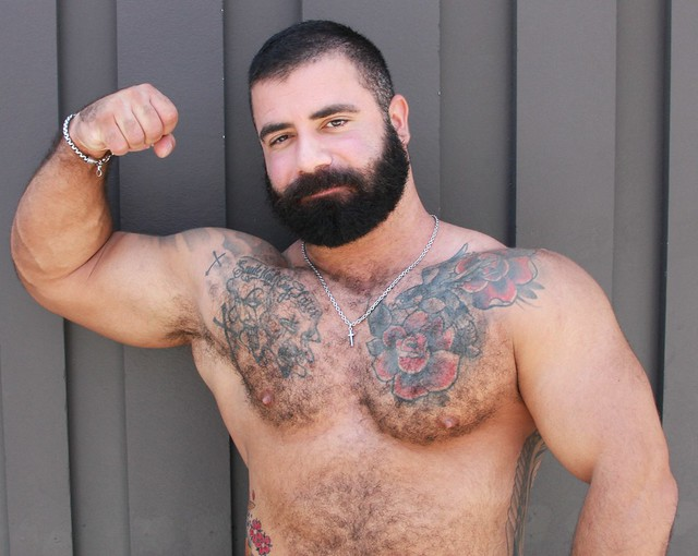 WHOA ! DAMN HOT & HAIRY MUSCLE STUD ! photographed by ADDA DADA at DORE ALLEY FAIR 2021 !!!  ( safe photo ) (50+ FAVES)