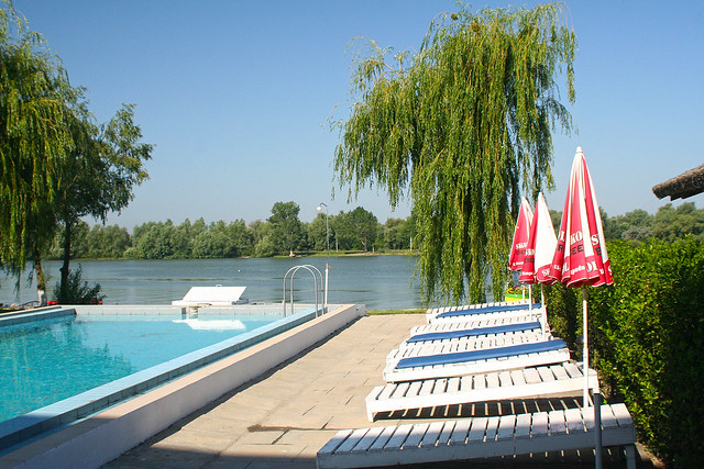 swimming pool with Danube view