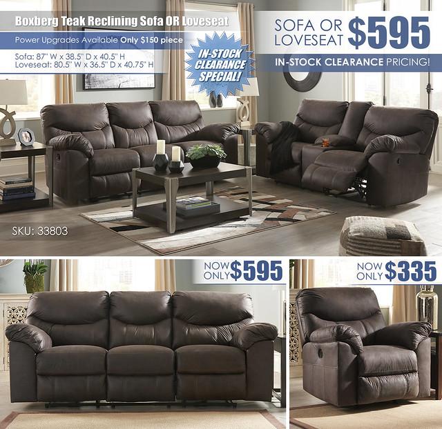 Boxberg Teak Reclining Sofa OR Loveseat_33803_July2021