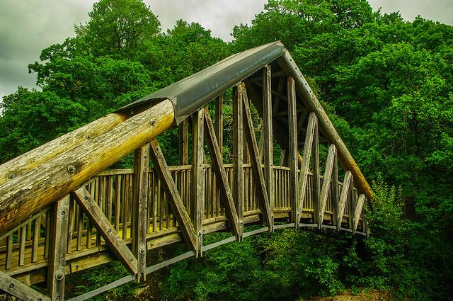 Bracklinn Falls Bridge Callander Scotland
