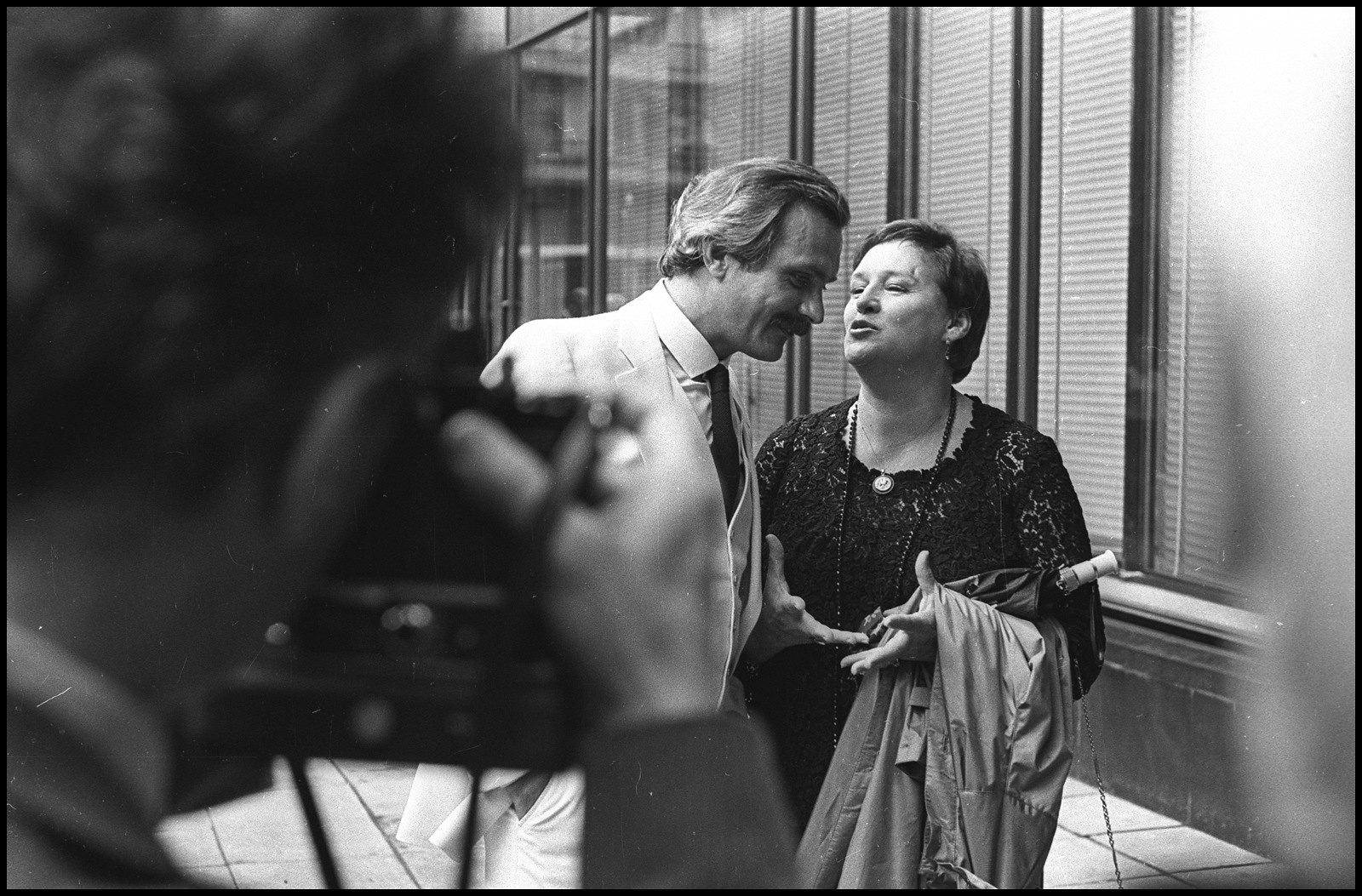 1980-е. Кинорежиссер Никита Михалков и актриса Нонна Мордюкова