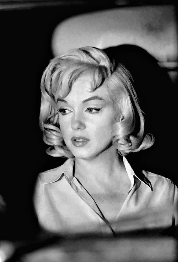Marilyn Monroe fotografiada por Erich Hartmann durante el rodaje de The Misfits (1961)_vectorized