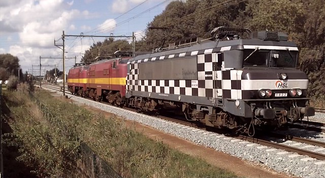 HSL 1832 with 2 Class1200 Electric Locomotives at Blerick the Netherlands September 26-2015
