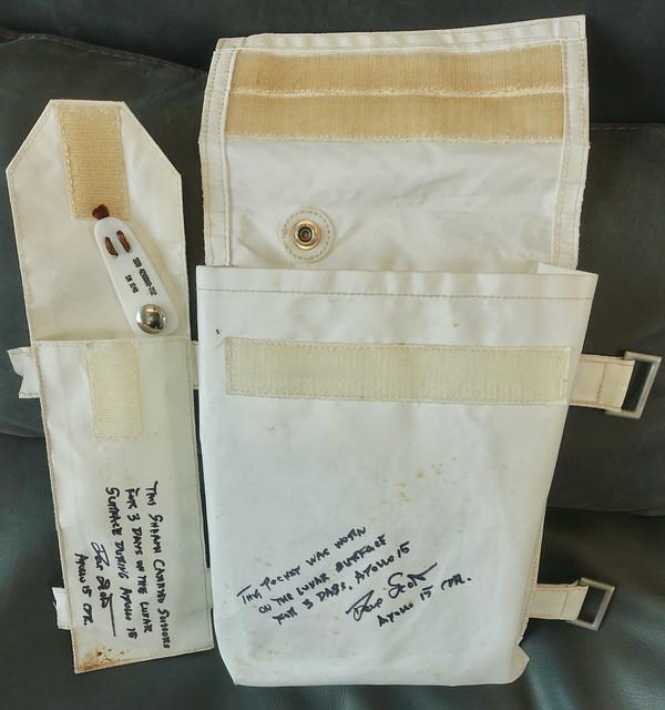 Flown Apollo 15 A7LB Beta Cloth Pouches