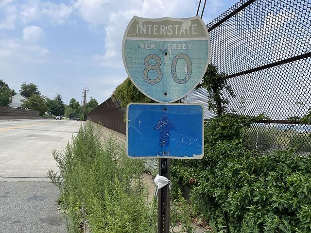 Possibly an original I-80 shield. Teaneck Rd. Ridgefield Park, NJ.