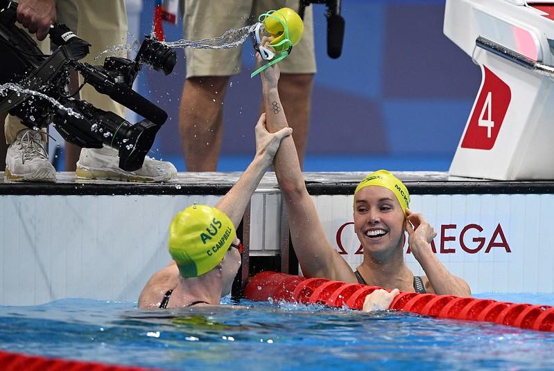 澳洲泳將Emma McKeon以史上第二快的成績拿下東奧女子100公尺自由式金牌。【AFP授權】