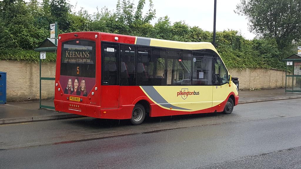 Pilkington Bus Mercedes-Benz Mellor Strata (PK20 BUS) at Clitheroe Interchange on service 5 to Longridge and Chipping