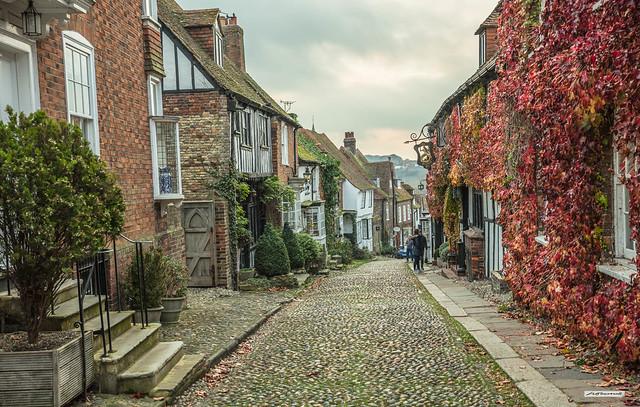 Mermaid Street, Rye, East Sussex. A street steeped in history.