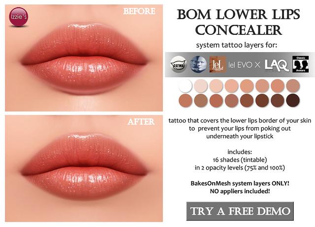 BOM Lower Lips Concealer for FLF